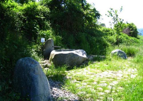 Fontaine brut et aménagement naturel pour la commune de Champagne