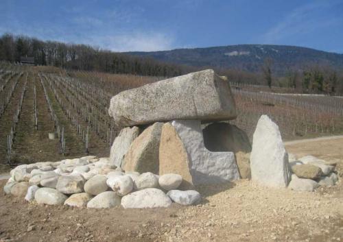 Taille partielle et mise en place d'un dolmen pour la Commune de Onnens