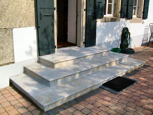 escalier en grès de La Molière