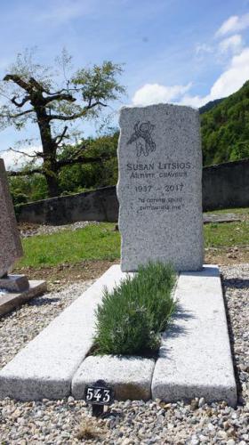 Monument en granit du Mont-Blanc erratique